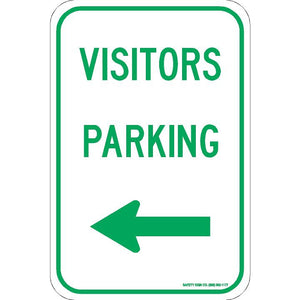 VISITOR PARKING (LEFT ARROW) SIGN