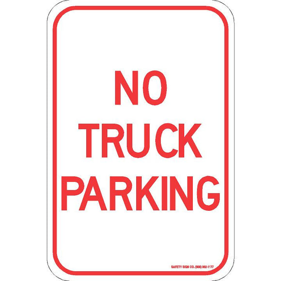 NO TRUCK PARKING SIGN
