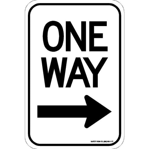 ONE WAY (RIGHT ARROW) SIGN
