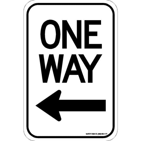 ONE WAY (LEFT ARROW) SIGN