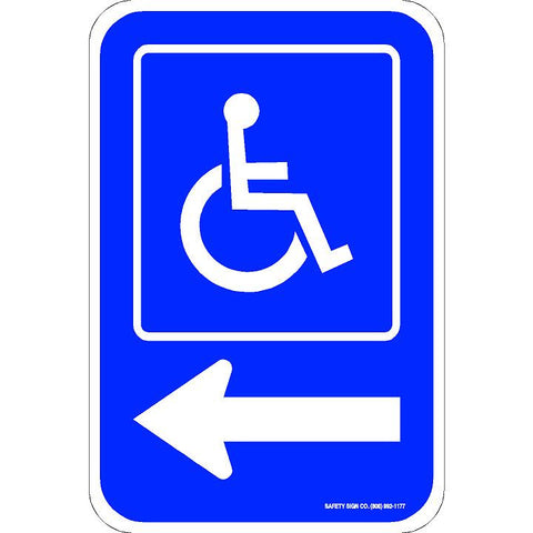 ADA PARKING SIGN LEFT ARROW (WITH GRAPHIC)