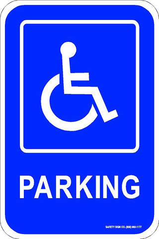 ADA PARKING SIGN (WITH GRAPHIC)