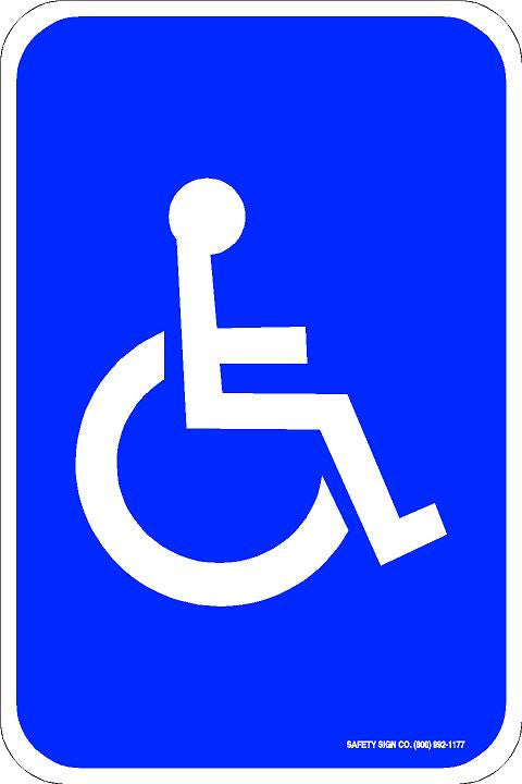 ADA SIGN (WITH GRAPHIC)