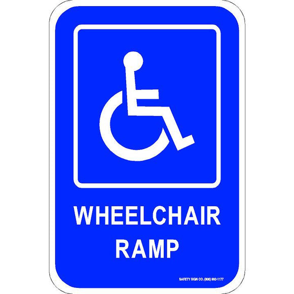 WHEELCHAIR RAMP SIGN (WITH GRAPHIC)