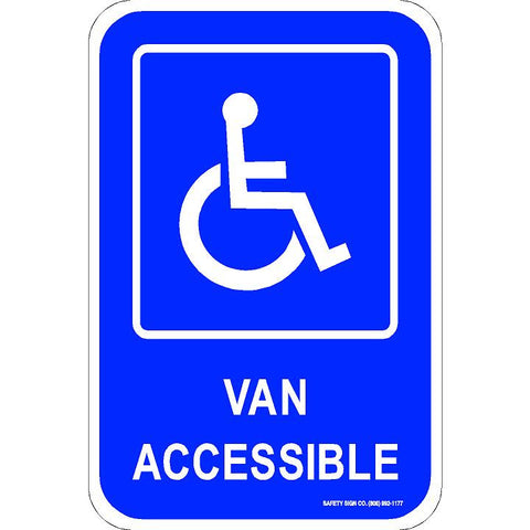 ADA VAN ACCESSIBLE SIGN (WITH GRAPHIC)