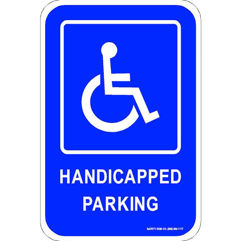 ADA HANDICAPPED PARKING SIGN (WITH GRAPHIC)