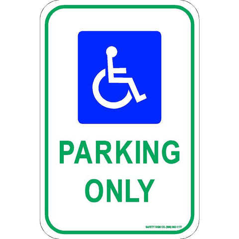 ADA PARKING ONLY SIGN (WITH GRAPHIC)