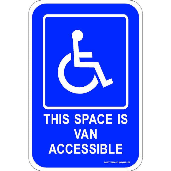 ADA THIS SPACE IS VAN ACCESSIBLE SIGN (WITH GRAPHIC)