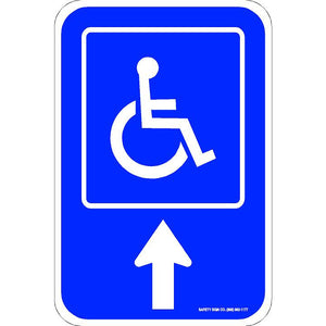 ADA PARKING SIGN UP ARROW (WITH GRAPHIC)