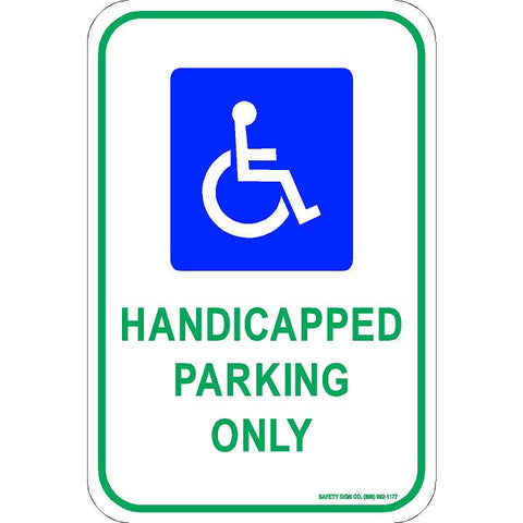 ADA HANDICAPPED PARKING ONLY SIGN (WITH GRAPHIC)