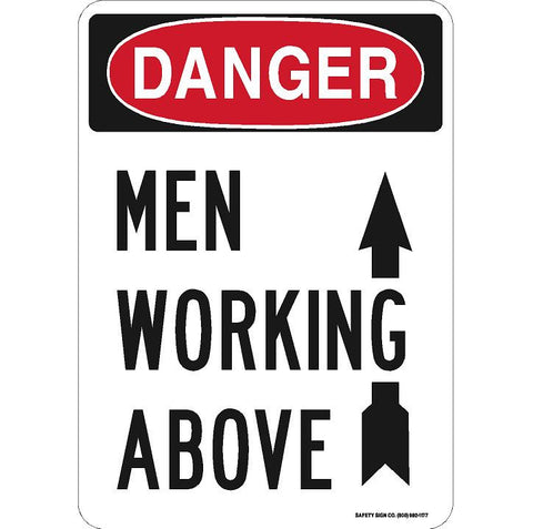 Products tagged workplace safetywork zone safety safety sign danger men working above arrow up sciox Gallery