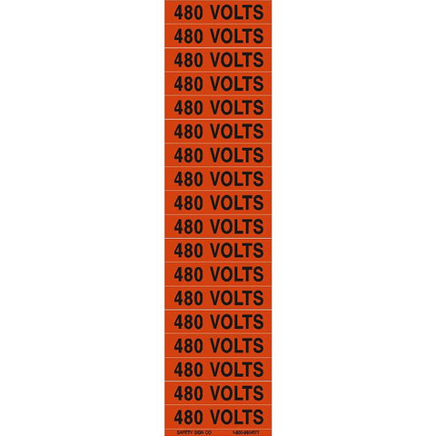 480 VOLTS PIMAR® Vinyl Press On Label (10 PACK)