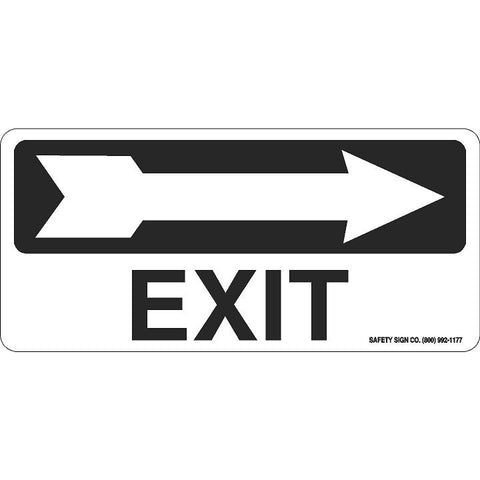 EXIT (RIGHT ARROW) (BLACK/WHITE)
