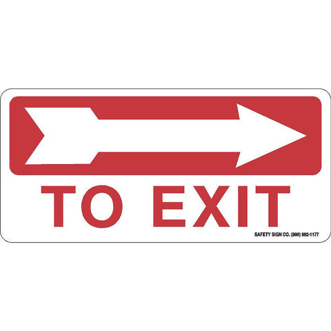 TO EXIT (RIGHT ARROW) (RED/WHITE)