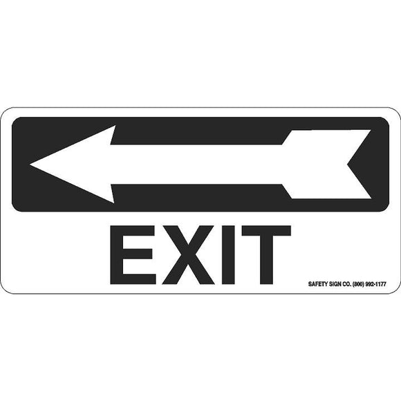 EXIT (LEFT ARROW) (BLACK/WHITE)