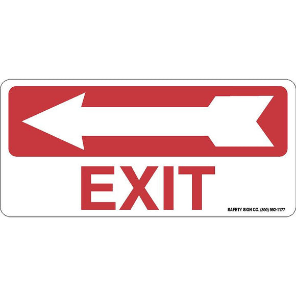EXIT (LEFT ARROW) (RED/WHITE)
