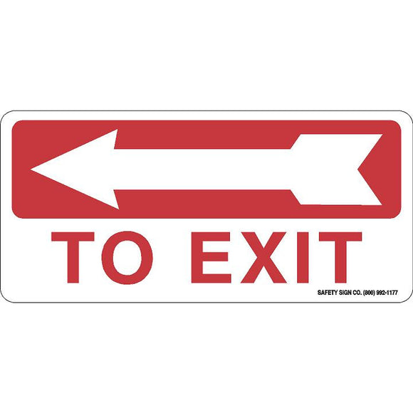 TO EXIT (LEFT ARROW) (RED/WHITE)