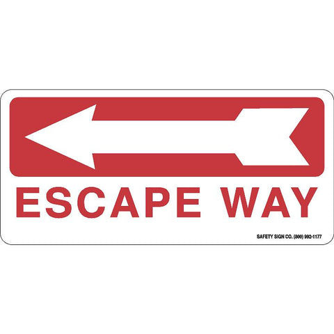 ESCAPE WAY (LEFT ARROW) (RED/WHITE)
