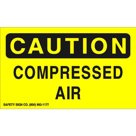 CAUTION COMPRESSED AIR (STALAR® Vinyl Press On)