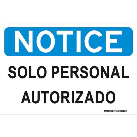 AVISO SOLO PERSONAL AUTORIZADO (STALAR® Vinyl Press On)