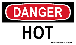 DANGER HOT (STALAR® Vinyl Press On)