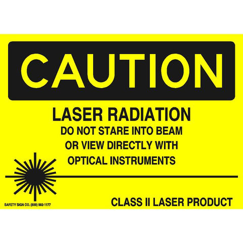 CAUTION LASER RADIATION DO NOT STARE INTO BEAM OR VIEW DIRECTLY WITH OPTICAL INSTRUMENTS CLASS II LASER PRODUCT (STALAR® Vinyl Press On)