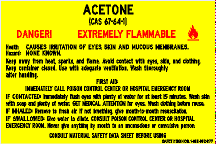 ACETONE LABEL (STALAR® Vinyl Press On)