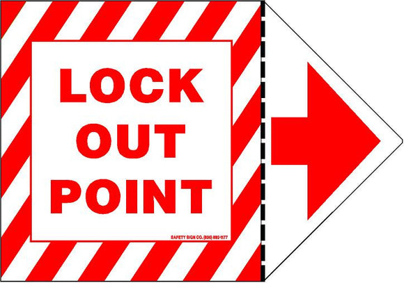 LOCK-OUT POINT (STALAR® Vinyl Press On) (REVERSIBLE ARROW)