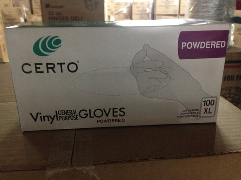 February Special! Vinyl food service gloves all sizes with or without powder 10/100