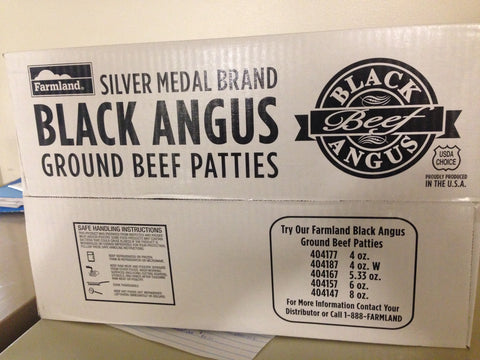 Farmland Silver Medal Angus Hamburg Patties