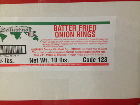 Bellissimo Battered Onion Rings