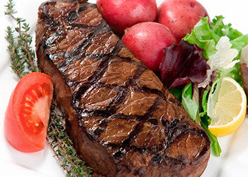 August Special! USDA Prime Center Cut NY Sirloin Strip Steaks 12 or 14 ounce