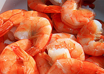 January Special! Raw Tail-On Shrimp Peeled and Deveined  30/40 ct.