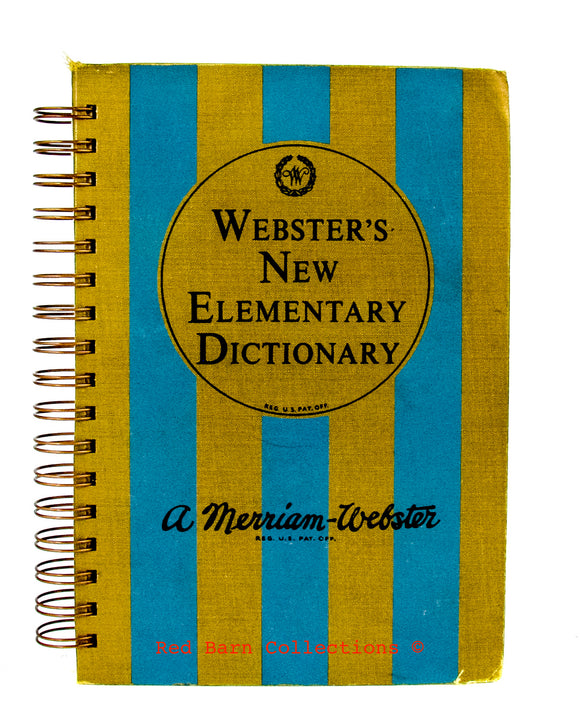 Websters New Elementary Dictionary-Red Barn Collections