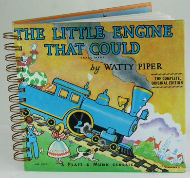 The Little Engine that Could Upcycled Book Journal