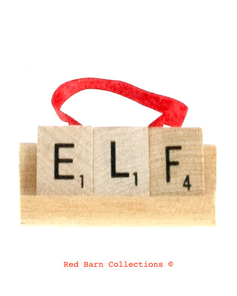 Elf Scrabble Ornament-Red Barn Collections