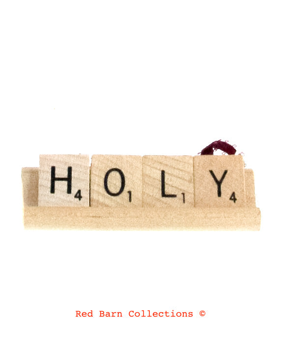 Holy Scrabble Ornament-Red Barn Collections