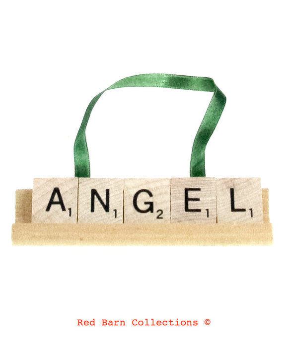 Angel Scrabble Ornament-Red Barn Collections
