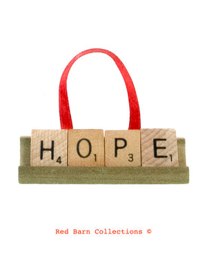 Hope Scrabble Ornament-Red Barn Collections