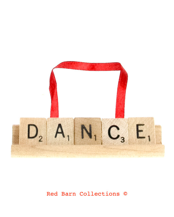 Dance Scrabble Ornament-Red Barn Collections