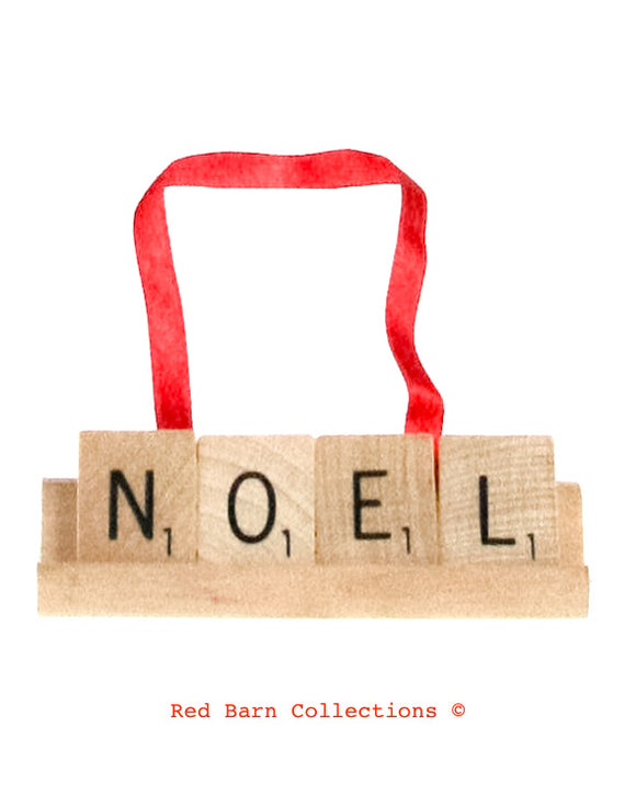 Noel Scrabble Ornament-Red Barn Collections