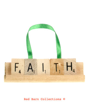 Faith Scrabble Ornament-Red Barn Collections