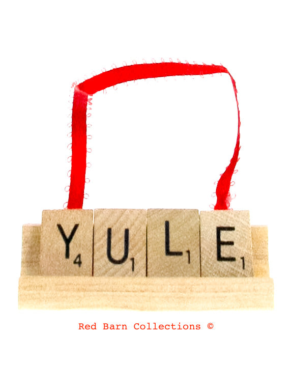 Yule Scrabble Ornament-Red Barn Collections