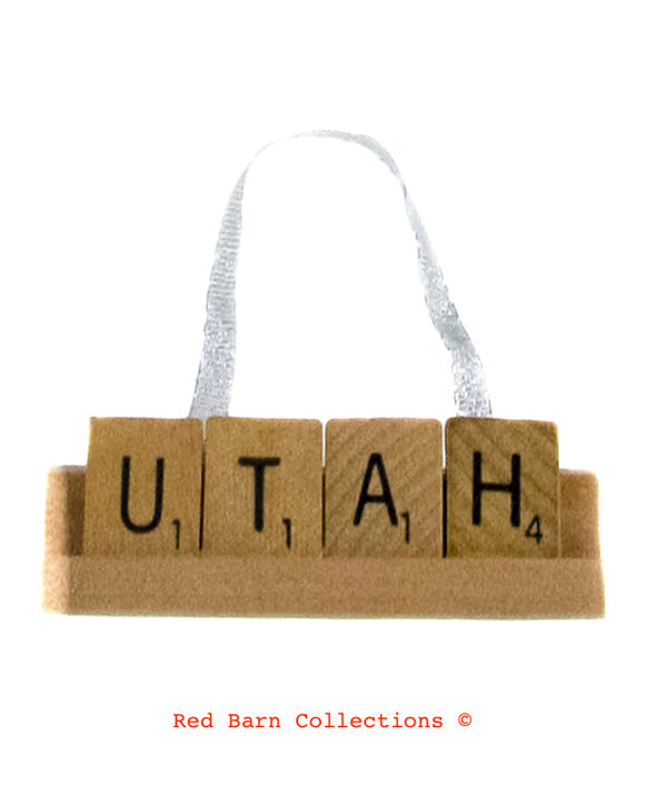 Utah Scrabble Ornament-Red Barn Collections