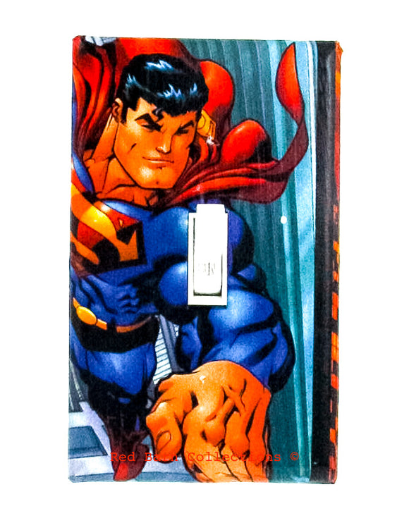 Superman Light Switch Cover-Red Barn Collections