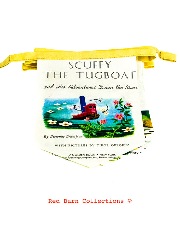 Scuffy The Tugboat Book Banner-Red Barn Collections