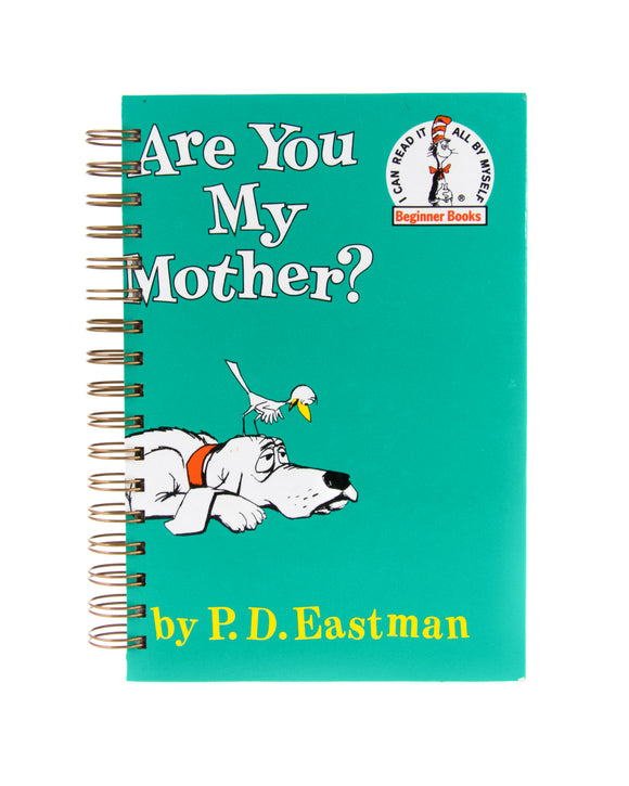 upcycled book journal or notebook from Dr Seuss Are You My Mother used book