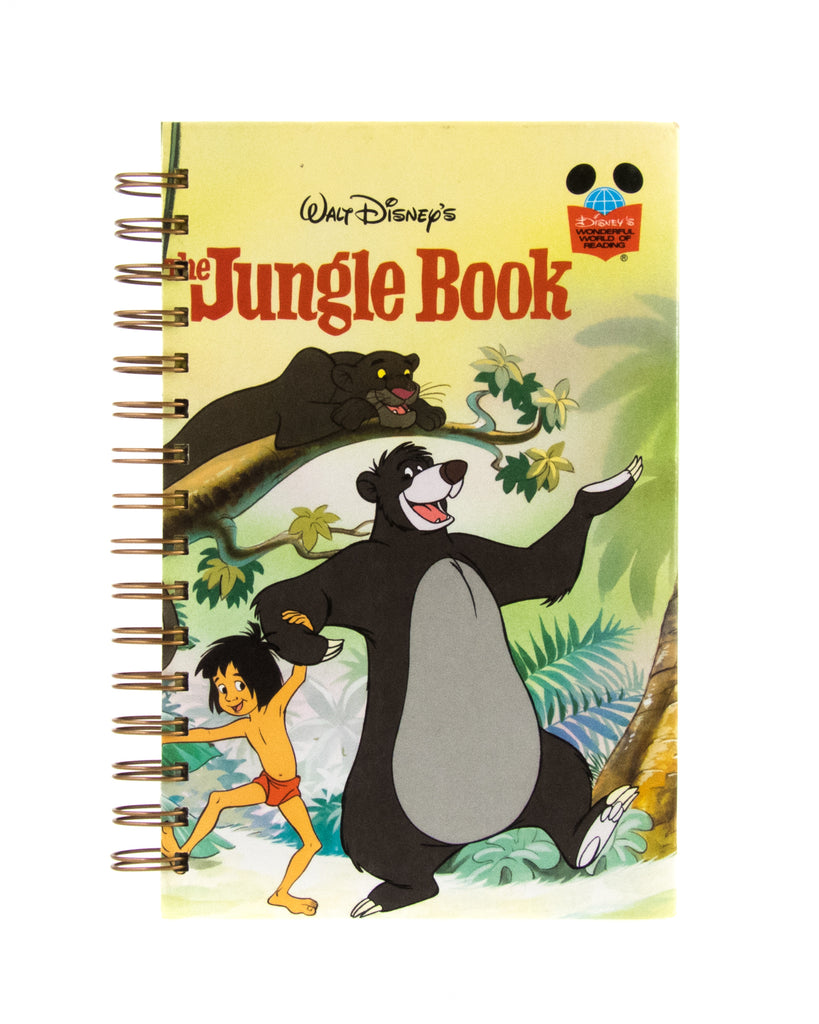 upcycled journal or notebook from The Jungle Book Disney used book
