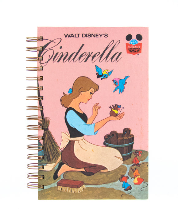 upcycled book journal or notebook from Disney Cinderella used book