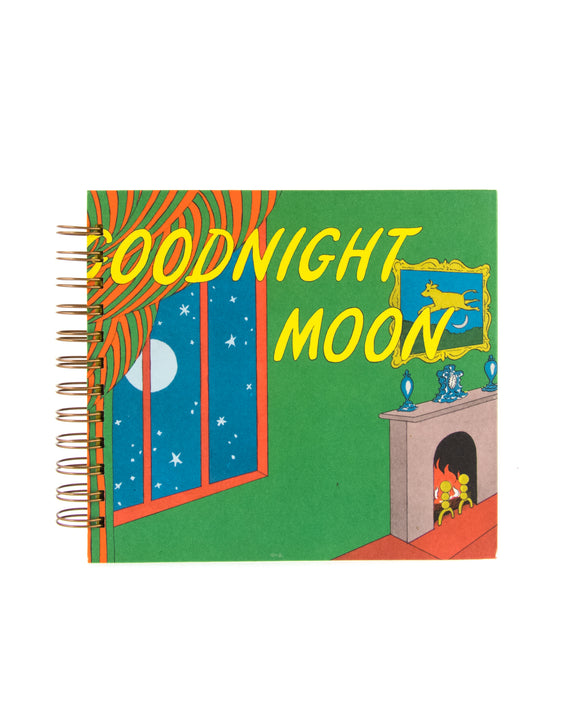 upcycled book journal or notebook from Goodnight Moon used book